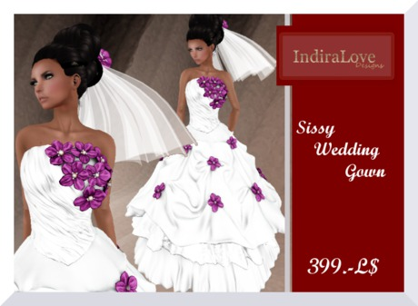 Second Life Marketplace Il Sissy Wedding Gown Iii