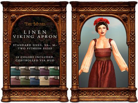 The Muses . Linen Viking Apron