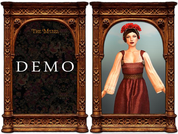 The Muses . Linen Viking Apron (DEMO)