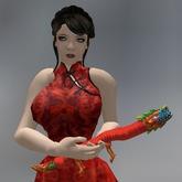 Red Chinese Dragon Mesh Animated Cuddle Pet box