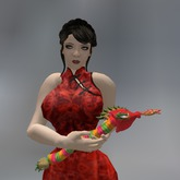 Rainbow Chinese Dragon Mesh Animated Cuddle Pet box