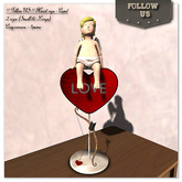 Special price Valentine's day !! Follow US !! Heart sign - Cupid 2sizes COPY version