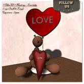 Special price Valentine's day !! Follow US !! Heart sign - Love Teddy 2sizes COPY version