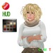 "eDeLsToRe woman mesh hair "" Sofi "" incl color HUD no rigg + rigg version (Special Rigged Mesh Hair)"