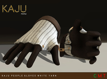 KajU People Gloves - white yarn