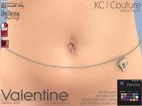 -KC- VALENTINE WAIST CHAIN (FITMESH) - MAITREYA, BELLEZA, SLINK