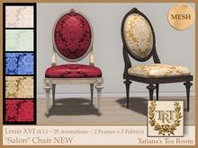 """TTR-Louis XVI """"Salon"""" Chair NEW"""