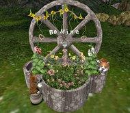 CJ Verona Wheel Planter ~ Be Mine ~ c + m ~