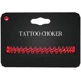 Amala - Tattoo Choker - Red