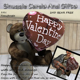 Happy Valentines balloon bear with song and message