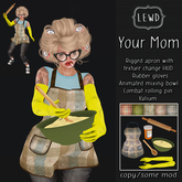 : Lewd :  Your Mom ~ Apron and mixing bowl set -  Costume