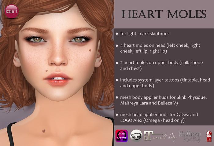 Izzie's - Heart Moles