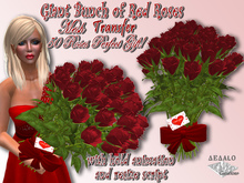 Giant Bunch of Red Roses - Mesh - 50 Red Roses Bouquet means Unconditional Love! -  * Valentine's Day Promo *