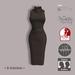 =R-Solution=  Cowl Neck Sleeveless Dress Brown
