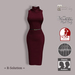 =R-Solution=  Cowl Neck Sleeveless Dress Red