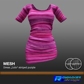RM-Womens MESH Lido Dress striped purple