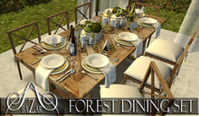 ~BAZAR~Forest Dining set