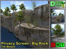Privacy Screen - Big Rock - Tiki Beach