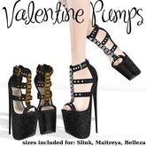 .OX Apparel. Valentine Pumps (Black)