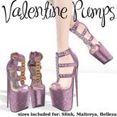 .OX Apparel. Valentine Pumps (Bubblegum)
