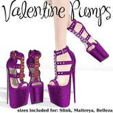 .OX Apparel. Valentine Pumps (Purple)