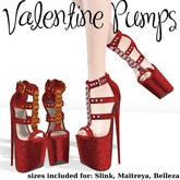.OX Apparel. Valentine Pumps (Ruby Red)