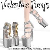 .OX Apparel. Valentine Pumps (Silver)