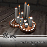 Dom ~ Atypical Valentine Candles ~ White