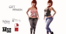 :: Millenaire TankTop & Pants Jeans /FitMesh /GIFT ::