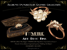 [Gatsby Collection] Myrtle Art Deco Ring [MESH]
