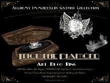 [Gatsby Collection] Triomphe Diamond Art Deco Ring [MESH]