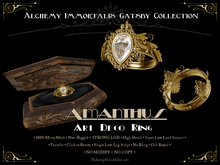 [Gatsby Collection] Amanthus Art Deco Ring [MESH]