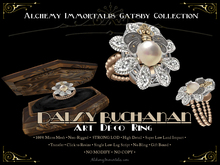 [Gatsby Collection] Daisy Buchanan Art Deco Ring [MESH]...(75% OFF SALE! WAS $395 -> NOW ONLY $99!)