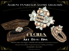 [Gatsby Collection] Cecilia Art Deco Ring [MESH]