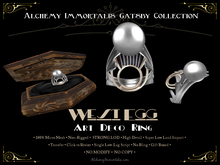 [Gatsby Collection] West Egg Art Deco Ring [MESH]  ... (75% OFF SALE! WAS $395 -> NOW ONLY $99!)