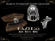 [Gatsby Collection] East Egg Art Deco Ring [MESH] ... (75% OFF SALE! WAS $395 -> NOW ONLY $99!)
