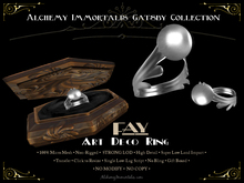 [Gatsby Collection] Fay Art Deco Ring [MESH]