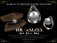 [Gatsby Collection] The Gatsby Art Deco Ring [MESH]