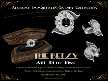 [Gatsby Collection] The Betsy Art Deco Ring [MESH]