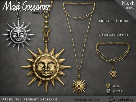 Necklace - Ariel Sun Pendant