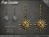Mg   earrings   ariel sun pendant