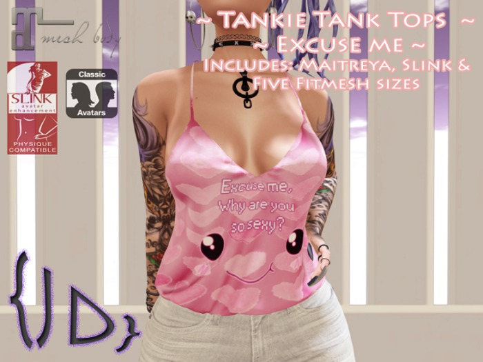 {JD} Tankie Tank Tops - Excuse me