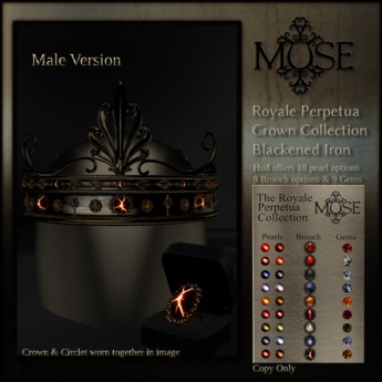 [MUSE] Royale Perpetua Crown - Blackened Iron - Male