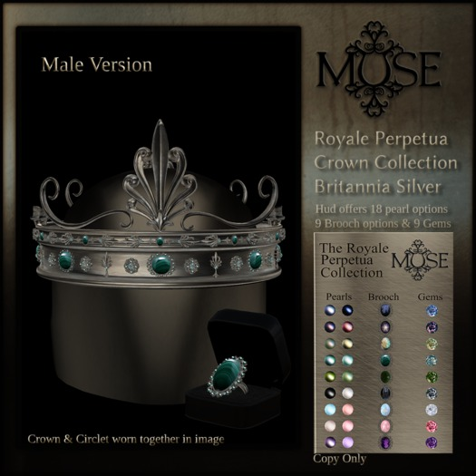 [MUSE] Royale Perpetua Crown - Britannia Silver - Male pkg ADD