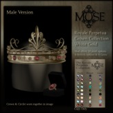[MUSE] Royale Perpetua Crown - White Gold pk HUD Male