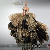 .:FlowerDreams:.Lavinia - black applier gown