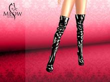 Meow Fetish - Katja Boots Black