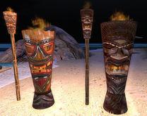 Four Tiki Torches 1 Li