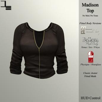 DE Designs - Madison Top - Brown