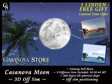 1 LINDEN FREE GIFT - Casanova 3D Mesh Moon - High Resolution Off Sim 3D Realistic Moon